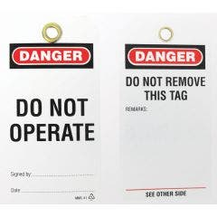 WATTMASTER Lock-Out Test Tag - Do Not Operate - 5 Piece WATWPT-41