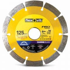 FLEXOVIT 125mm Segmented Diamond Blade for Tiles & Clay Bricks