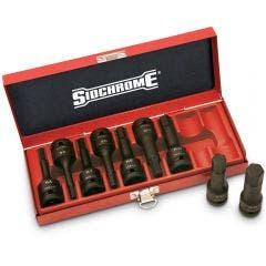 SIDCHROME Socket Set Inhex 1/2inch SD AF 9Pc 3/16inch - 5/8inch C/Molybdenum XS4H09T