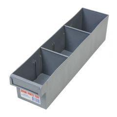 FISCHER 100 x 100 x 400mm 2Divider Medium Storage Tray 1H002