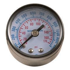 SONSBEEK AIR PRESSURE GAUGE 1/8inch BSP REAR ENTRY 0-175 PSI 40MM DIA