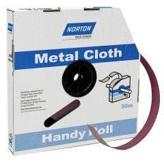 NORTON 40mm x 50m 240-Grit Metal Cloth Sanding Roll - METALITE