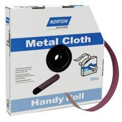 NORTON 50mm x 50m 80-Grit Metal Cloth Sanding Roll - METALITE