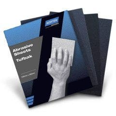NORTON 230 x 280mm 600G Tufbak Silicon Carbide Wet/Dry Hand Sandpaper Sheet