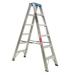 GORILLA Double Sided A-Frame Ladder 1.8M (6ft) Aluminium 120kg Industrial SM006-C