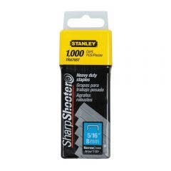 STANLEY 8mm 1000pc Heavy Duty Staples Suits TR45/110/250, TTR350, PHT150/250C TRA705T