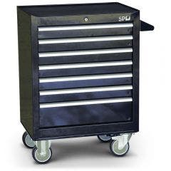 SP TOOLS 7 Drawer Black Tool Trolley SP40104