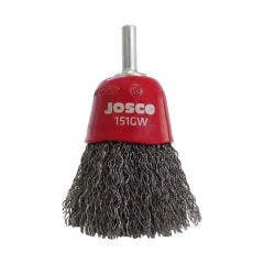 JOSCO 60mm 6mm-Shank Mounted Crimped Wire Cup Brush