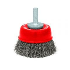 JOSCO 70mm Spindle Mounted HD Crimped Cup Brush 152