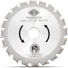 CARBITOOL 102mm 20T TCT Circular Saw Blade for Metal Cutting