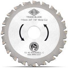 CARBITOOL 115mm 20T TCT Circular Saw Blade for Metal Cutting