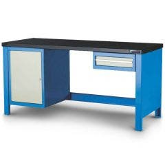 1-11 Heavy Duty Modular Work Bench with Single Drawer and Side Cabinet MOD2