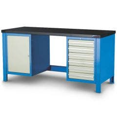 1-11 Heavy Duty Modular Work Bench with 6 Drawers & Side Cabinet MOD4