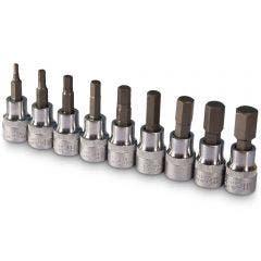 SIDCHROME 3/8inch 9Pc Metric In-Hex Socket Set SCMT13280