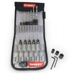 SNAPPY TOOLS 1/4-Hex Quick-Change HSS Jobber Drill Bit & Countersink Set - 25 Piece