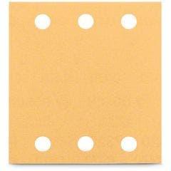 BOSCH 115 x 107mm 120-Grit 6-Hole Hook & Loop Sanding Sheet for Wood & Paint - C470 - 10 Piece