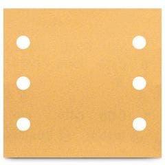 BOSCH 115 x 107mm 240-Grit 6-Hole Hook & Loop Sanding Sheet for Wood & Paint - C470 - 10 Piece