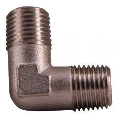 SONSBEEK ELBOW 1/4inch -1/4inch BSP M-M BRASS, CARDED