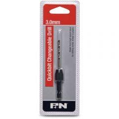 P&N QUICKBITS 3.0mm HSS Jobber Drill Bit & 1/4-Hex Quick-Change Adaptor