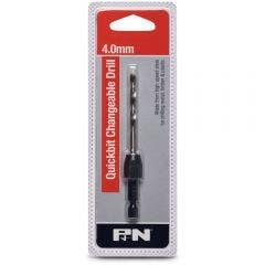 P&N QUICKBITS 4.0mm HSS Jobber Drill Bit & 1/4-Hex Quick-Change Adaptor