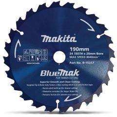 MAKITA 190mm 24T TCT Circular Saw Blade for Wood Cutting - Mitre Saws - BLUEMAK
