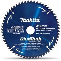 MAKITA 216mm 60T TCT Circular Saw Blade for Wood Cutting - Mitre Saws - BLUEMAK