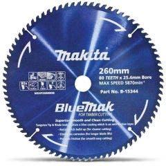 MAKITA 260mm 80T TCT Circular Saw Blade for Wood Cutting - Mitre Saws - BLUEMAK