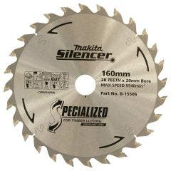 MAKITA 160mm 28T TCT Circular Saw Blade for Wood Cutting - Plunge Saws - SPECIALIZED