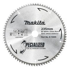 MAKITA 235mm 80T TCT Circular Saw Blade for Aluminium Cutting - SPECIALIZED