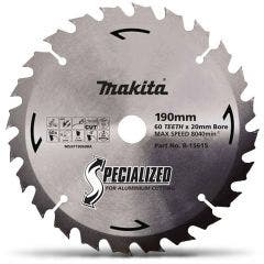 MAKITA 190mm 60T TCT Circular Saw Blade for Aluminium Cutting - Mitre Saws - SPECIALIZED