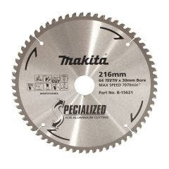 MAKITA 216mm 64T TCT Circular Saw Blade for Aluminium Cutting - Mitre Saws - SPECIALIZED
