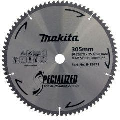 MAKITA 305mm 80T TCT Circular Saw Blade for Aluminium Cutting - SPECIALIZED