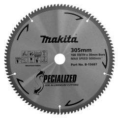 MAKITA 305mm 100T TCT Circular Saw Blade for Aluminium Cutting - SPECIALIZED