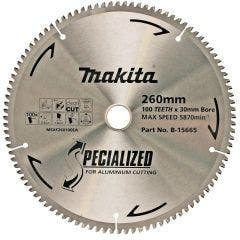 MAKITA 260mm 100T TCT Circular Saw Blade for Aluminium Cutting - Mitre Saws - SPECIALIZED