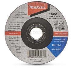 MAKITA 125 x 6.0mm Metal Grinding Disc - 5 Piece