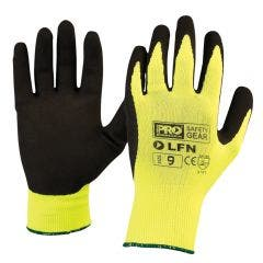 PROCHOICE Glove Nylon Sz 9 Latex Dipped Palm, Hi-Vis