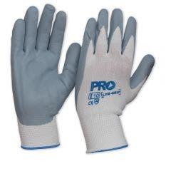 PROCHOICE Glove Nylon Sz 10 Latex Dipped Palm, Hi-Vis