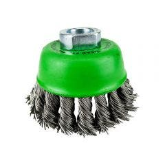 JOSCO BRUMBY 75mm 0.45mm Stainless Steel Twist Knot Wire Cup Brush