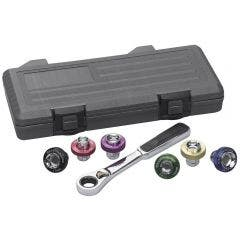 GEARWRENCH 7 pcs Magnetic Oil Drain Plug Socket Set 3870D
