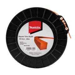 MAKITA 2.4mm x 206m Nylon Square Trim Plus Line Orange 369224608