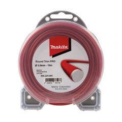 MAKITA 3mm x 15m Nylon Round Trim Plus Line Red 369224609