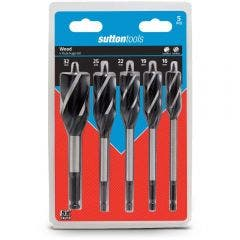 SUTTON 16-32mm 4-Flute Auger Bit Set - 5 Piece