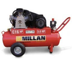 MCMILLAN Portable 3HP Single Phase 2 Stage Electric Air Compressor C16HP