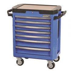 KINCROME 7-Drawer CONTOUR Tool Trolley Electric Blue K7747