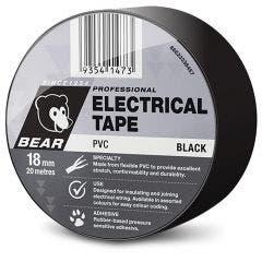 BEAR 18mm x 20m Insulation Electrical Tape - Black 66623336457