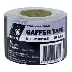 BEAR 50mmx10m Black Multi-Purpose Gaffer Tape 66623336622