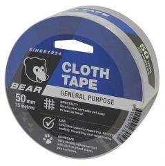 BEAR 50mmx25m Silver Cloth Tape 66623336616