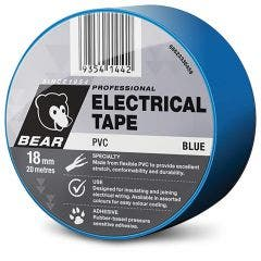 BEAR 18mm x 20m Insulation Electrical Tape - Blue 66623336459