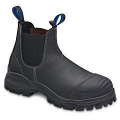BLUNDSTONE 990 Black Leather Steel Cap Safety Boots
