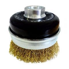 JOSCO BRUMBY 75mm Crimped Cup Brush with Steel Tyre Cord Wire & skirt BCTCS65